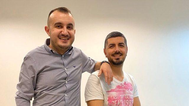 SMSBump founders Mihail Stoychev and Georgi Petrov