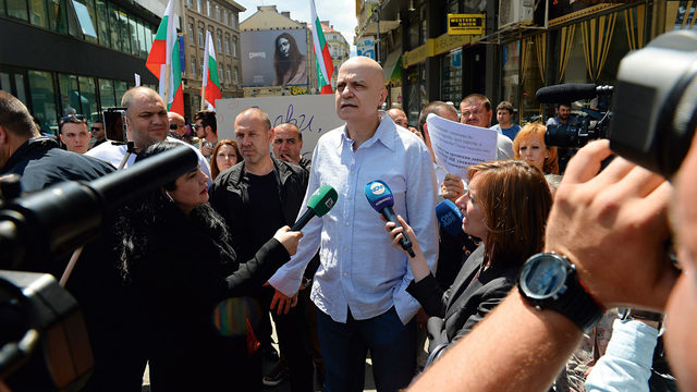 Mr Trifonov protested the fact that Parliament ignored the results of the referendum initiated by his team