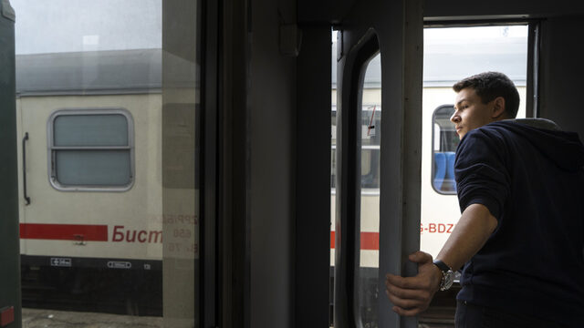 """In 2014, Kristian Vaklinov helped organize a petition to save the Septemvri-Dobrinishte train line that crosses the Rhodope mountain and includes a stop at the highest station on the Balkan Peninsula. """"If there is no one like me, who will stand up for it? It will be gone."""" Since then he and his friends organized a group of supporters and has since been hired by the Bulgarian National Railway as a customer service expert."""
