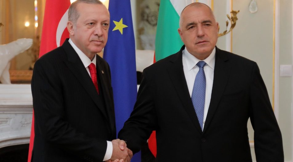 Rather than mediating between Ankara and Brussels, PM Boyko Borissov (left) appeared to be taking the side of President Recep Erdogan in the crisis