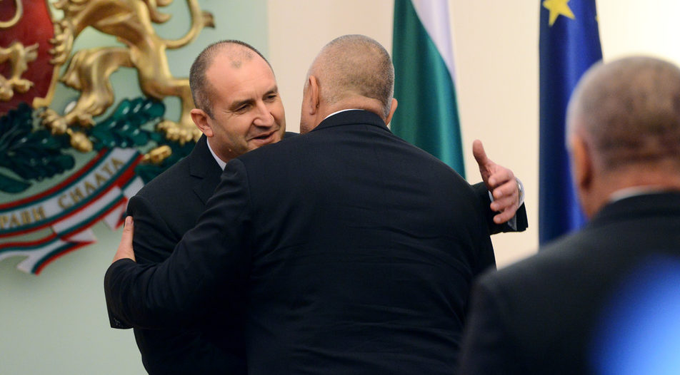 Mr Radev and Mr Borrisov frequently demonstrate fraternity. But the President establishes himself as a credible opposition to the Prime Minister