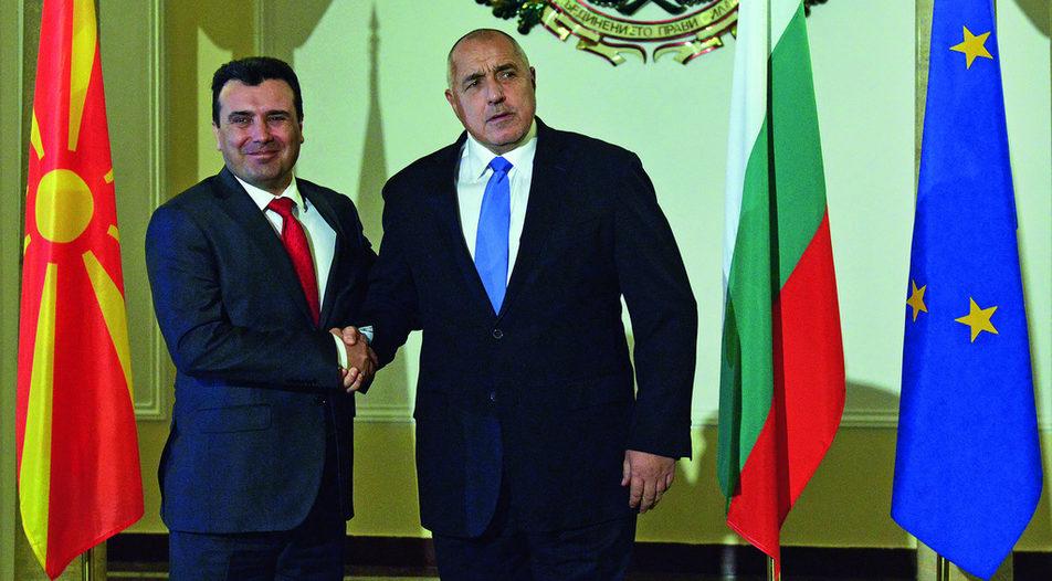 Zoran Zaev, Prime Minister of North Macedonia (left) and Boyko Borissov, Prime Minister of Bulgaria (right)  