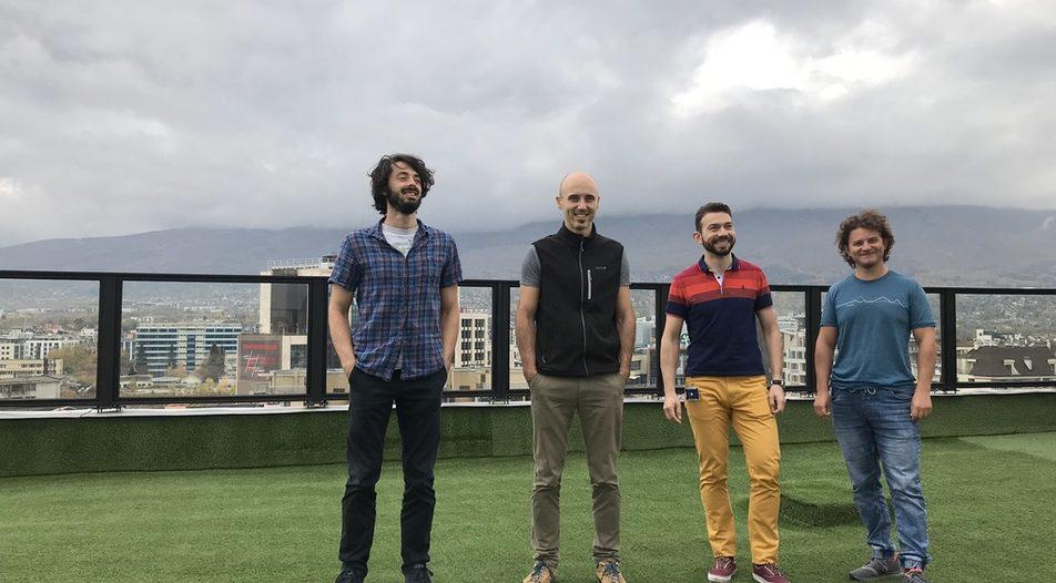 (left to right) Part of the Bulgarian team of Halo Dx: Iliya Vatahov, Alexander Kolev, Dimiter Barfonchovski, Pavel Kostadinov.