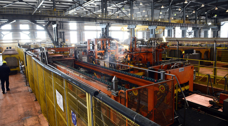 The refinery of Bulgaria's leader in metallurgy - copper mining company Aurubis