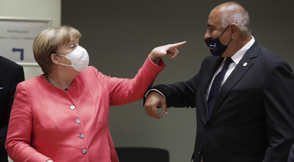 The Bulgarian masks of discord might cost Ms Merkel dearly in the upcoming vote