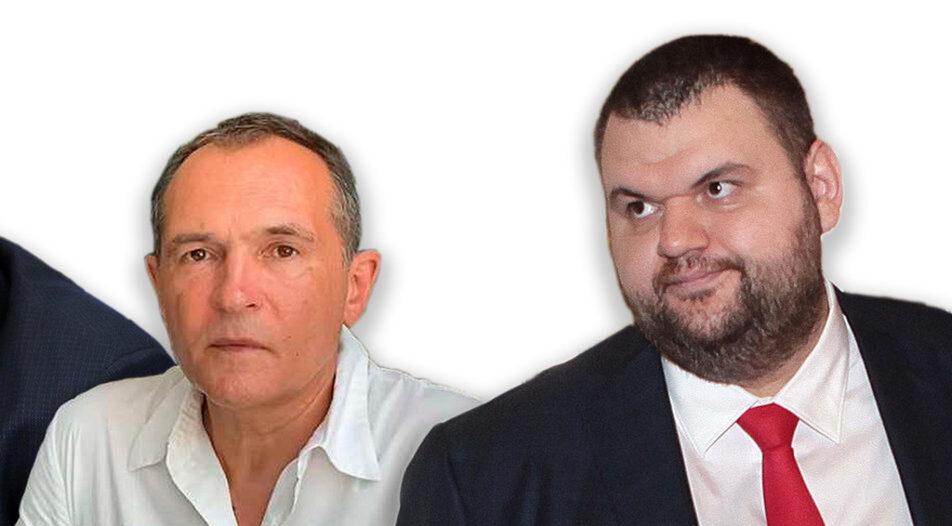 Vassil Bojkov (left) and Delyan Peevski (right)