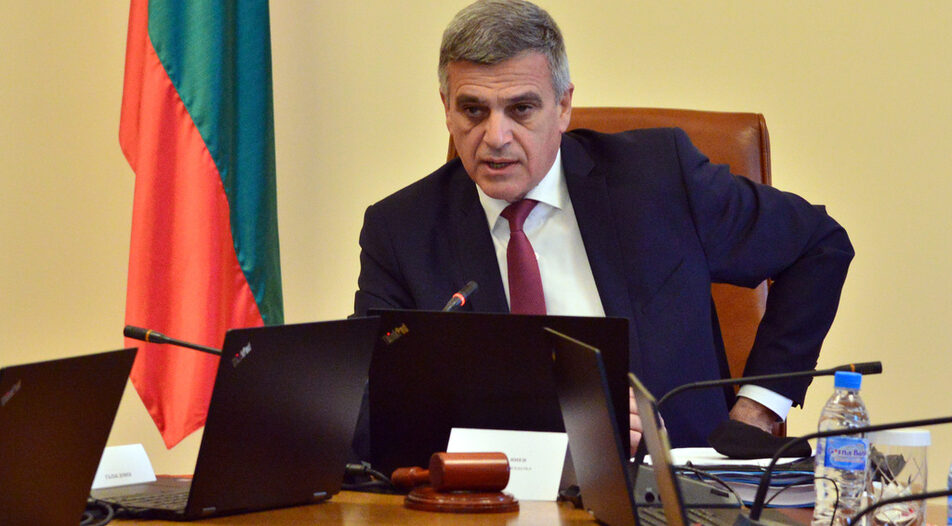Caretaker Prime Minister Stefan Yanev