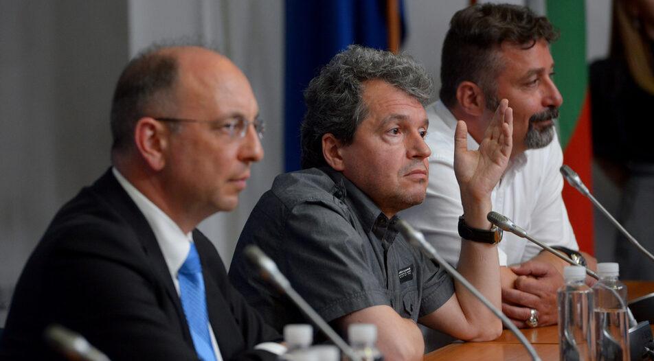 Left to right: Nikolay Vassilev, Toshko Yordanov (TISP), Filip Stanev (TISP)