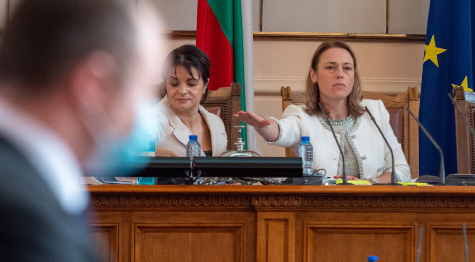 Iva Miteva, the speaker of the second failed parliament in a row, and member of TISP.