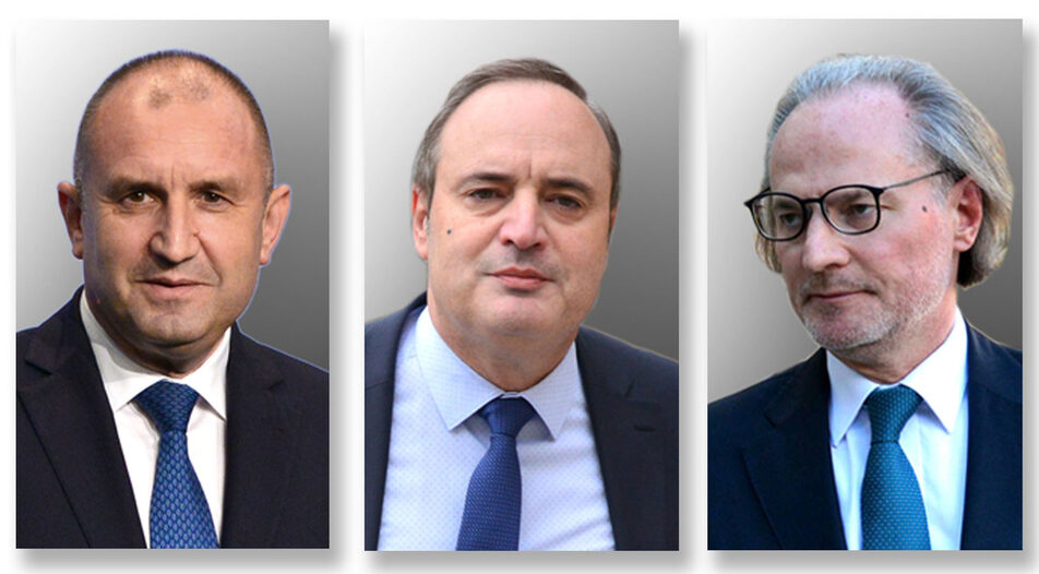 With the entry of two serious candidates - Anastas Gerdjikov (middle) and Lozan Panov (right), incumbent President Rumen Radev's reelection is becoming less certain