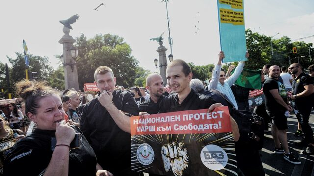 About a hundred people took part in an anti-restrictions rally in Sofia earlier this week